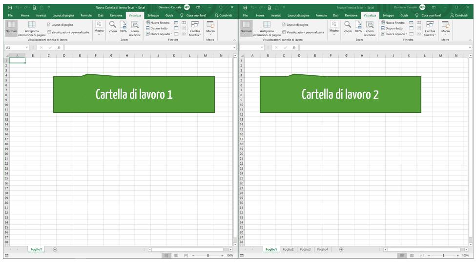 Finestre Excel: aprire più file Excel nella stessa finestra