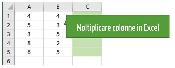 moltiplicazione excel colonna