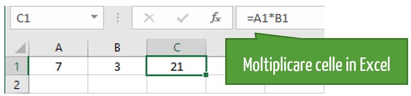 formula excel moltiplicazione