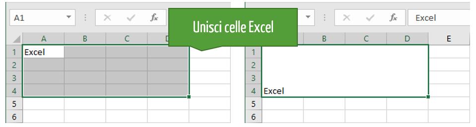 Unisci celle Excel