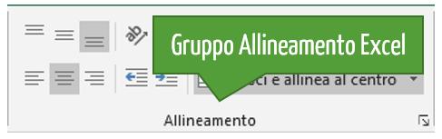 Gruppo Allineamento Excel
