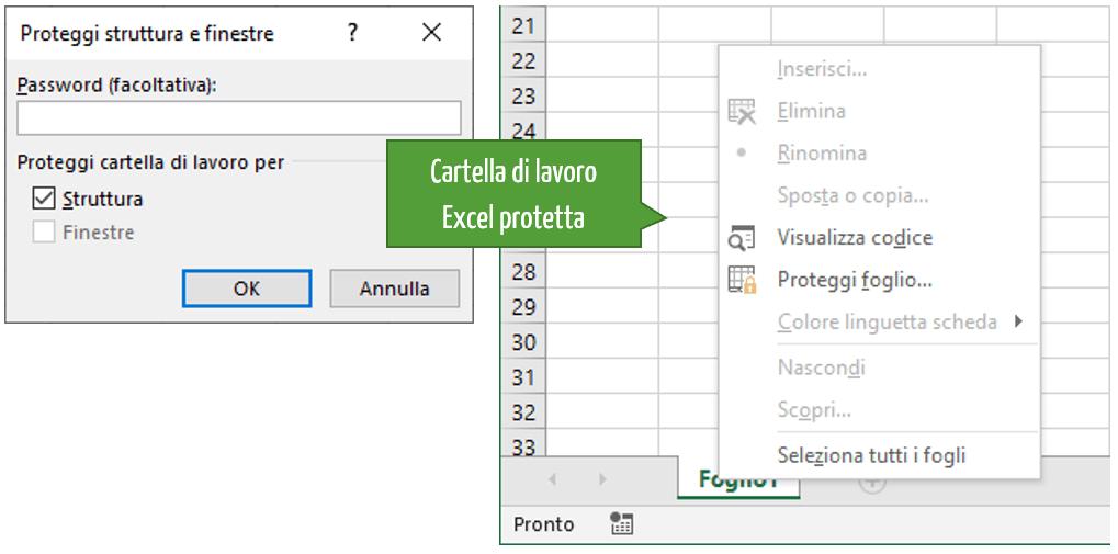 Cartella di lavoro Excel è protetta