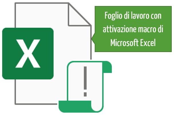 attivare vba excel | Foglio di lavoro con attivazione macro Excel
