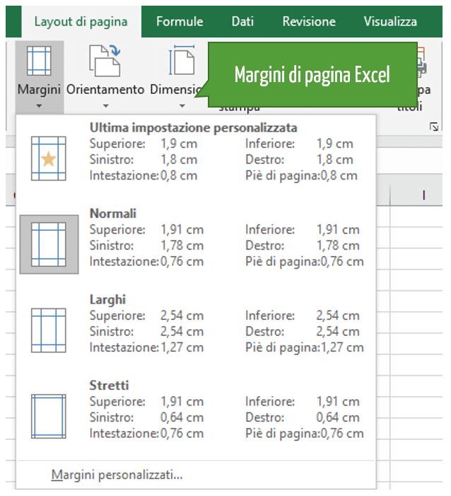Visualizzare margini stampa pagine Excel