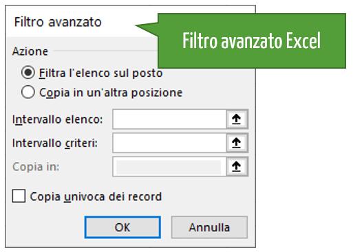 Filtro in Excel