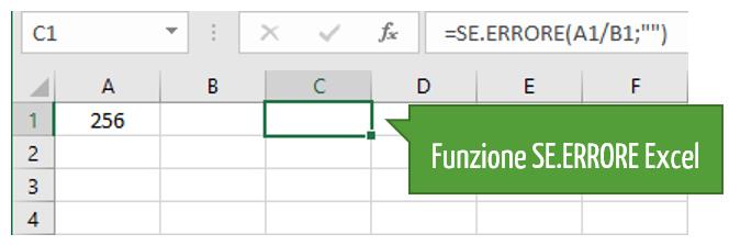 Funzione SE ERRORE Excel