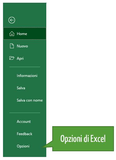 Opzioni Excel | Recupero file Excel non salvato