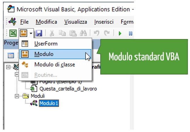 modulo standard vba