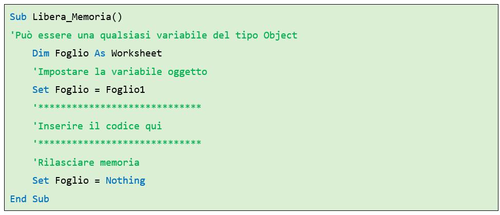 codici vba | programmazione Excel