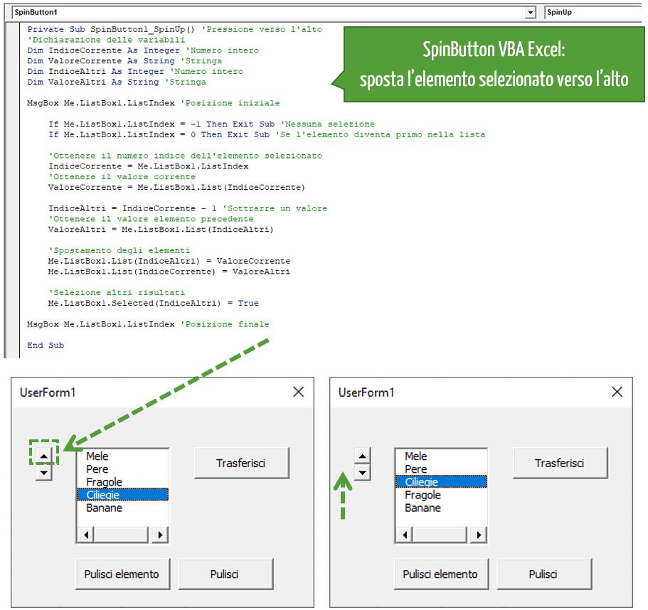 Spostare elementi all'interno della ListBox