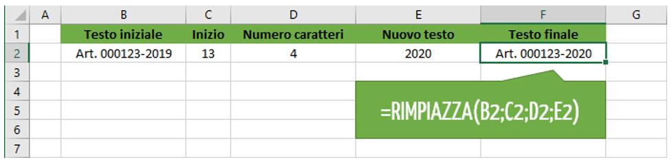 Formula testo Excel