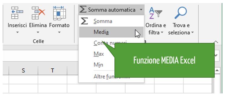 media con Excel | come si trova la media