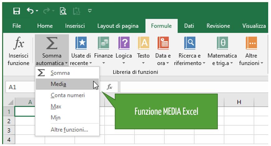 calcolare media Excel