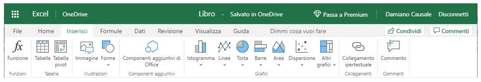 Le funzioni di Excel sul web