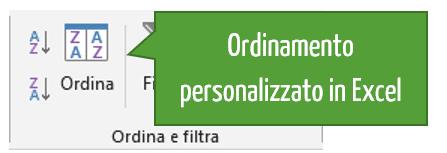 Ordinamento personalizzato in Excel