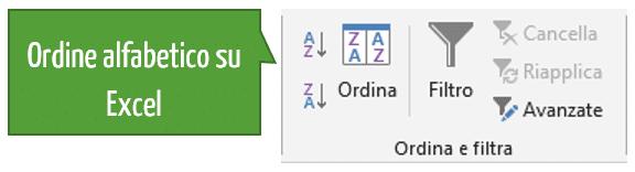 Come mettere in ordine alfabetico su Excel