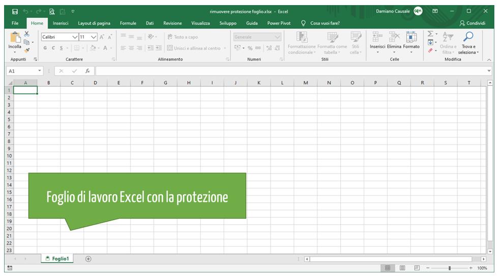 Sbloccare file Excel | Rimuovere protezione foglio Excel