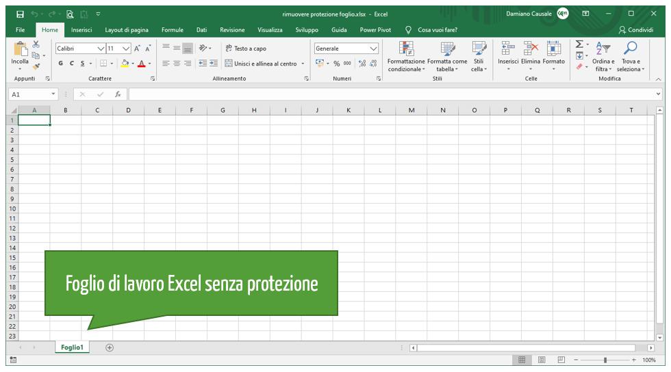 Sbloccare foglio Excel | Rimuovere password file Excel