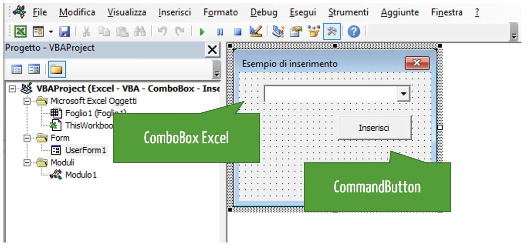 ComboBox Excel VBA: uso casella combinata