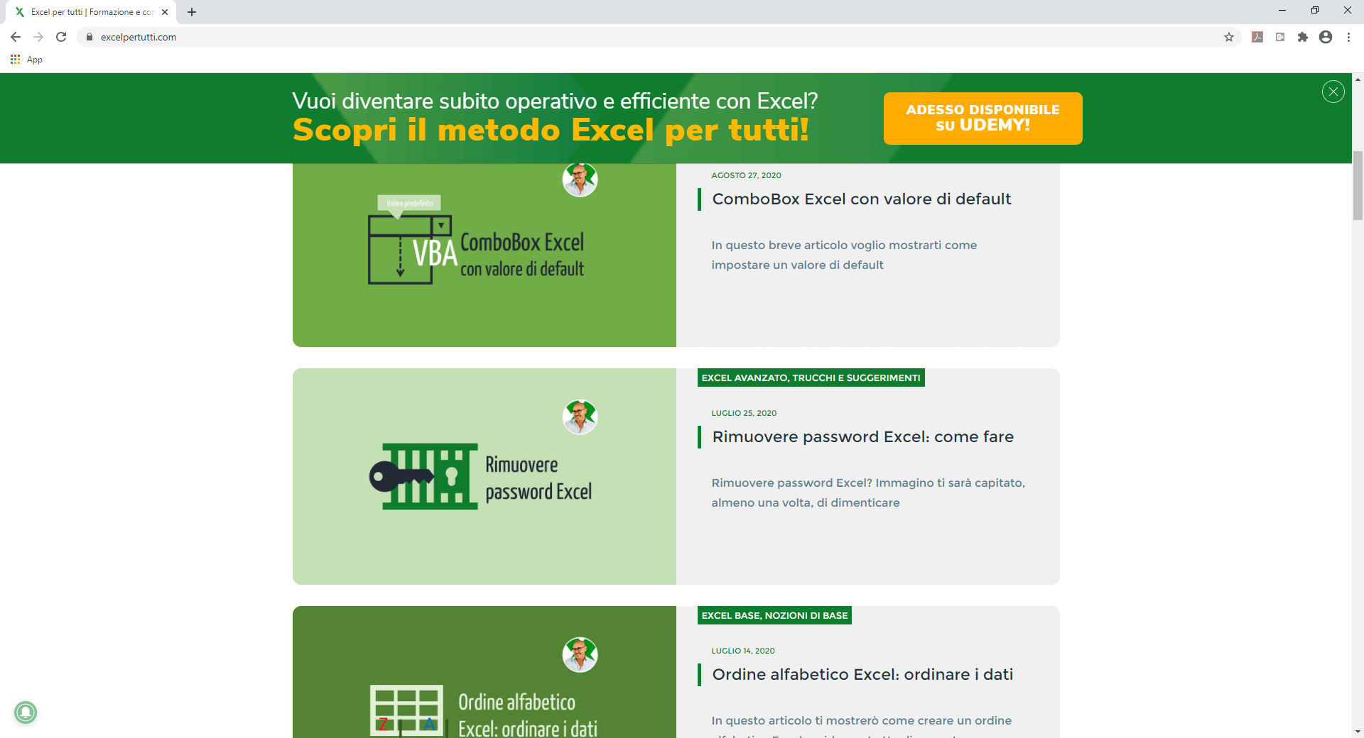 Guida Excel | Corso di Excel | Imparare Excel