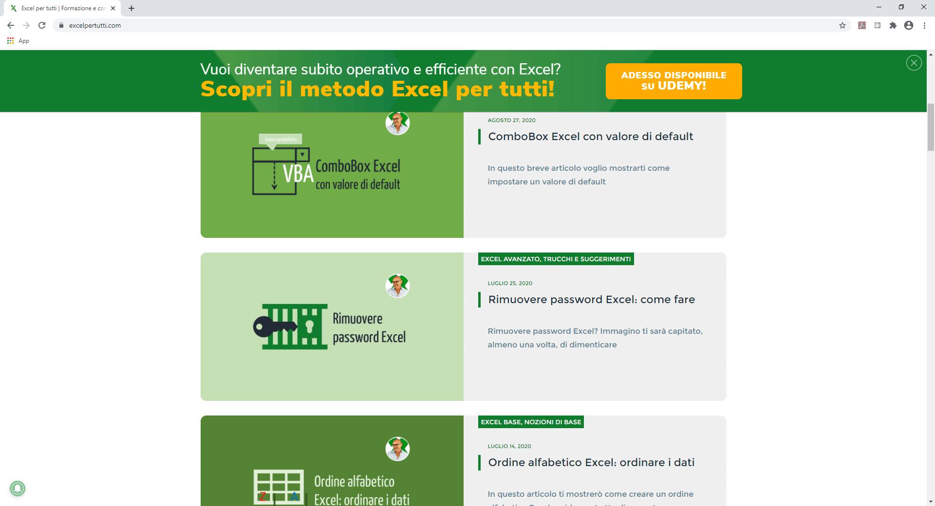 Come imparare Excel