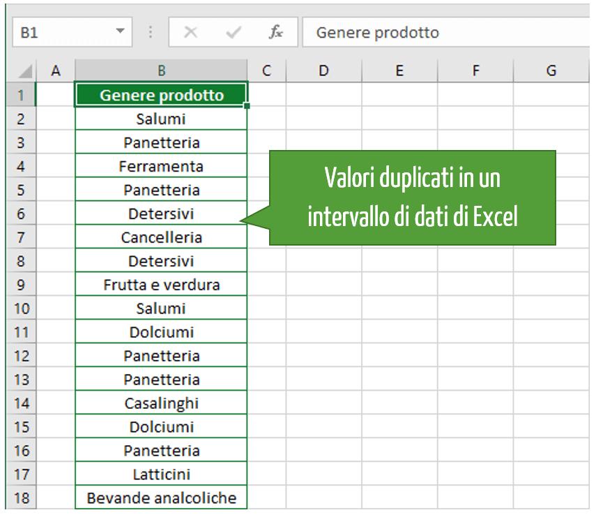 Rimuovi duplicati Excel | Excel eliminare duplicati |