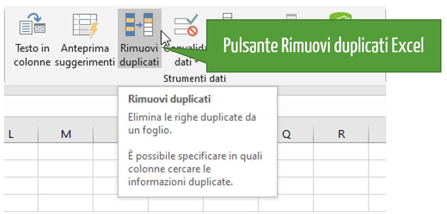 Elimina duplicati Excel ! Eliminare doppioni Excel