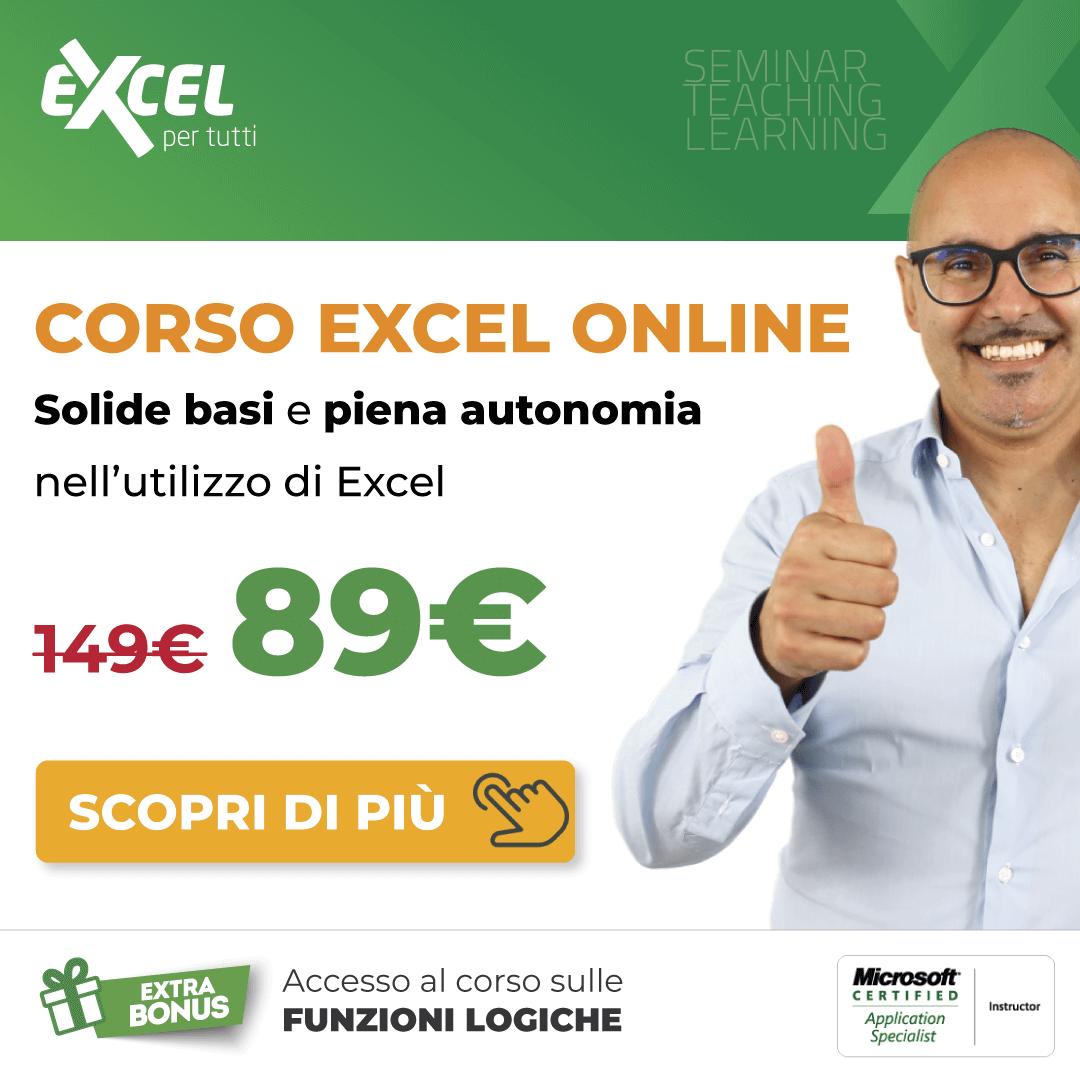 Corso Excel online