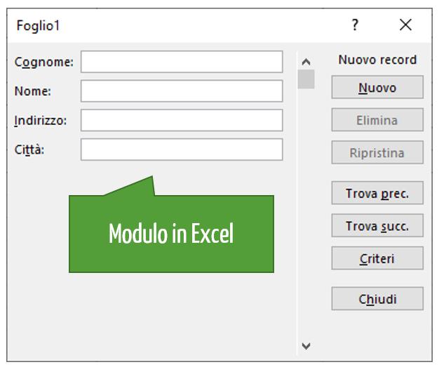 Cos'è e a cosa serve il modulo Excel