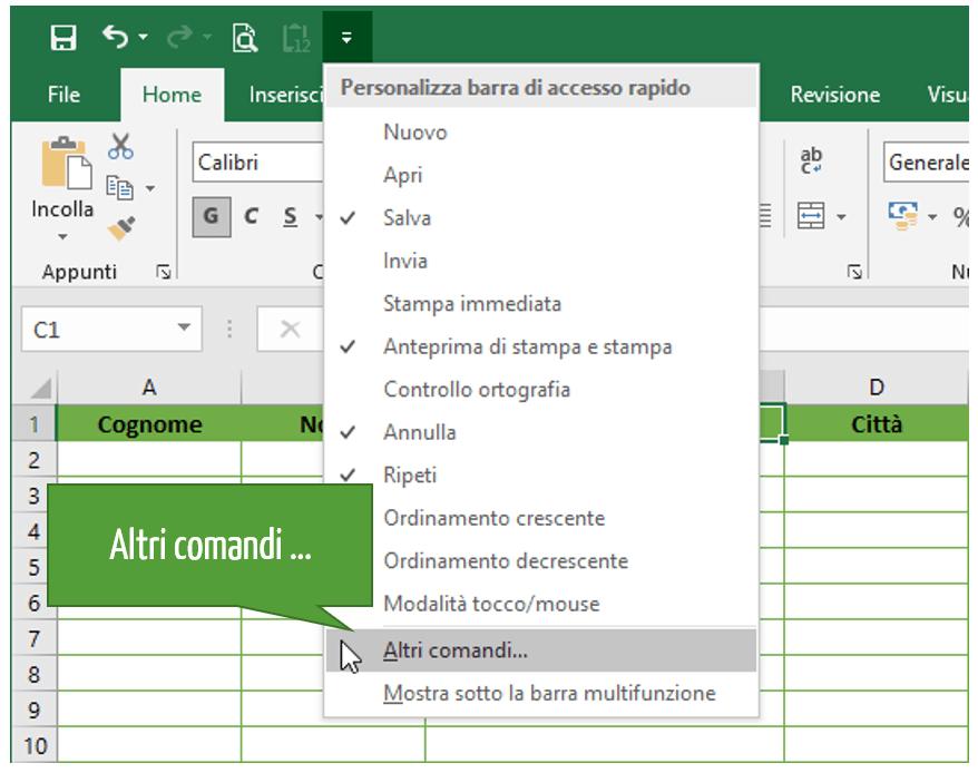 Modulo Excel: come creare una maschera inserimento dati Excel