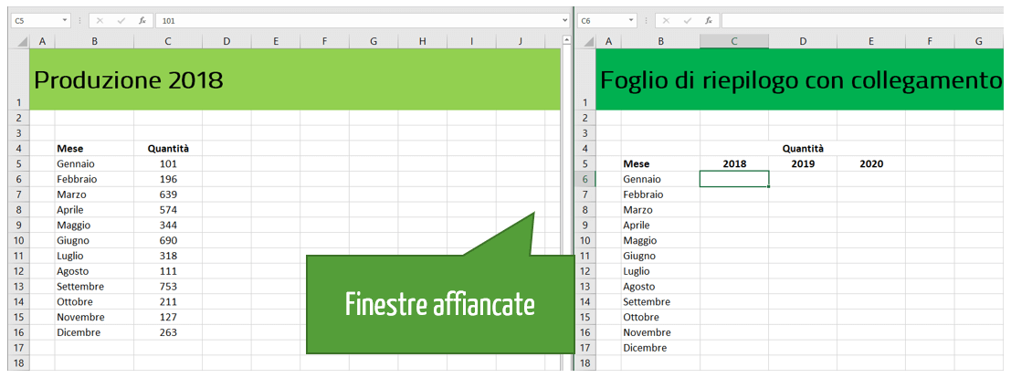 Collegare due fogli Excel appartenenti a cartelle di lavoro differenti