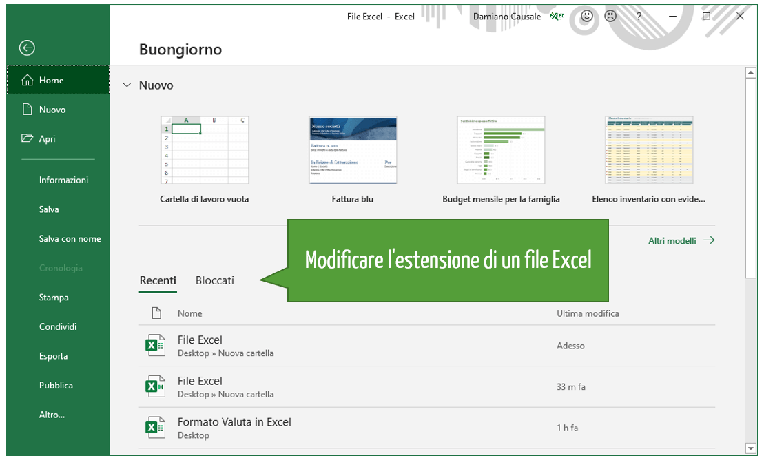 estensione file Excel | Come modificare l'estensione di un file Excel