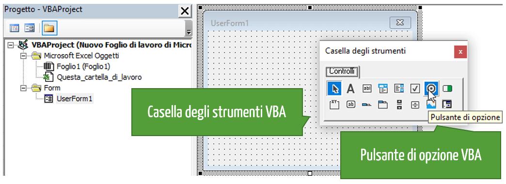 Casella di strumenti VBA Excel
