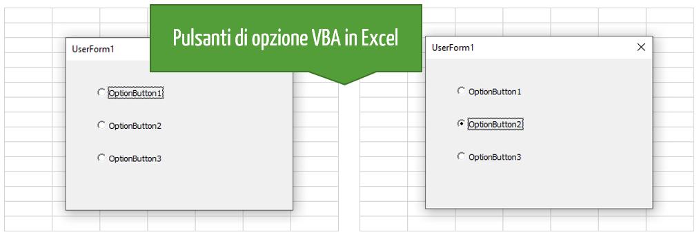 Pulsanti di opzione VBA: inserire una UserForm Excel