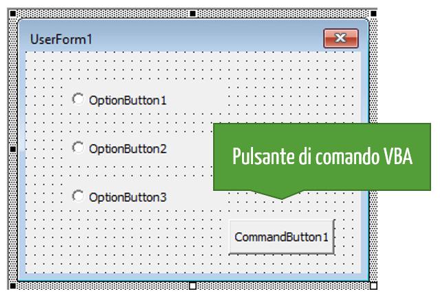 Pulsante di comando VBA Excel