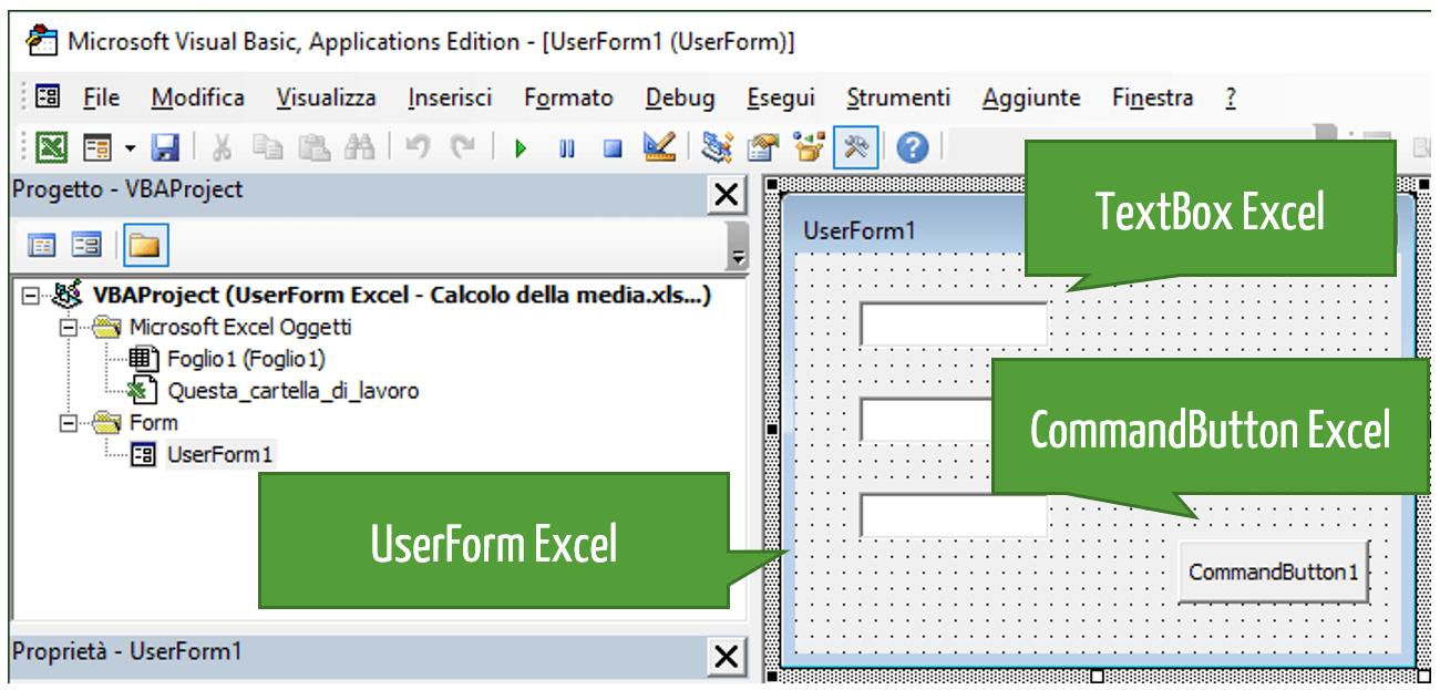 Userform Excel Esempi | Calcolo della media