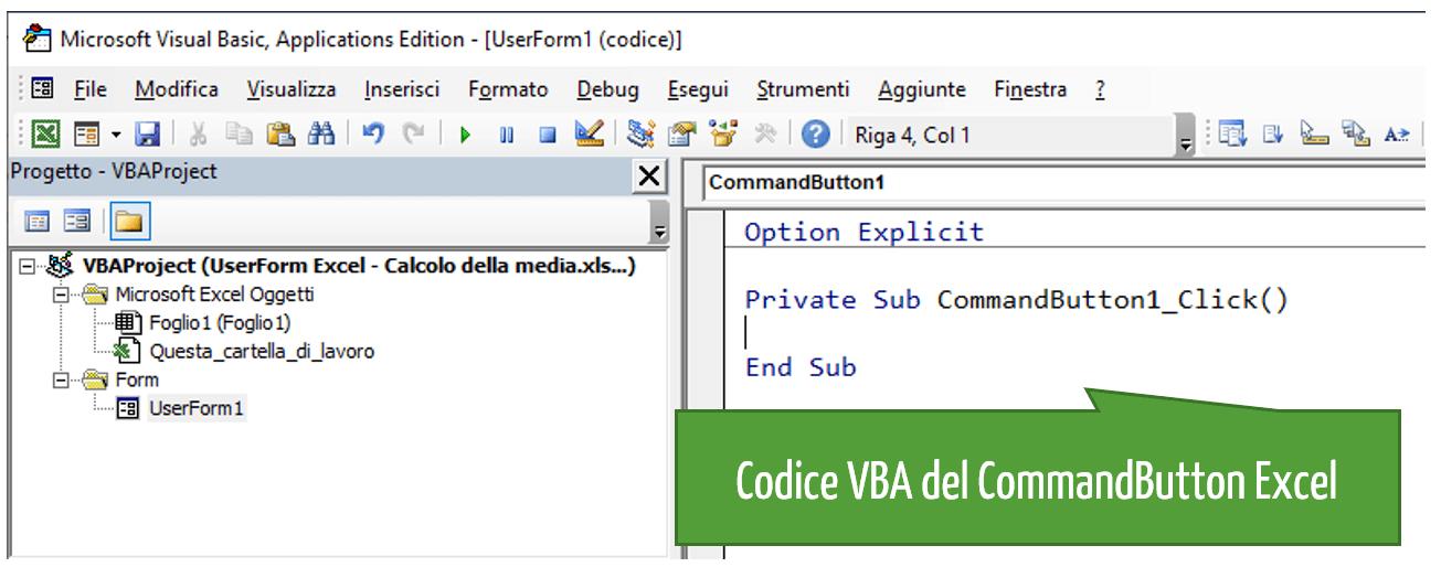 Interfaccia Excel | UserForm per inserimento dati Excel: il codice VBA per il calcolo della media