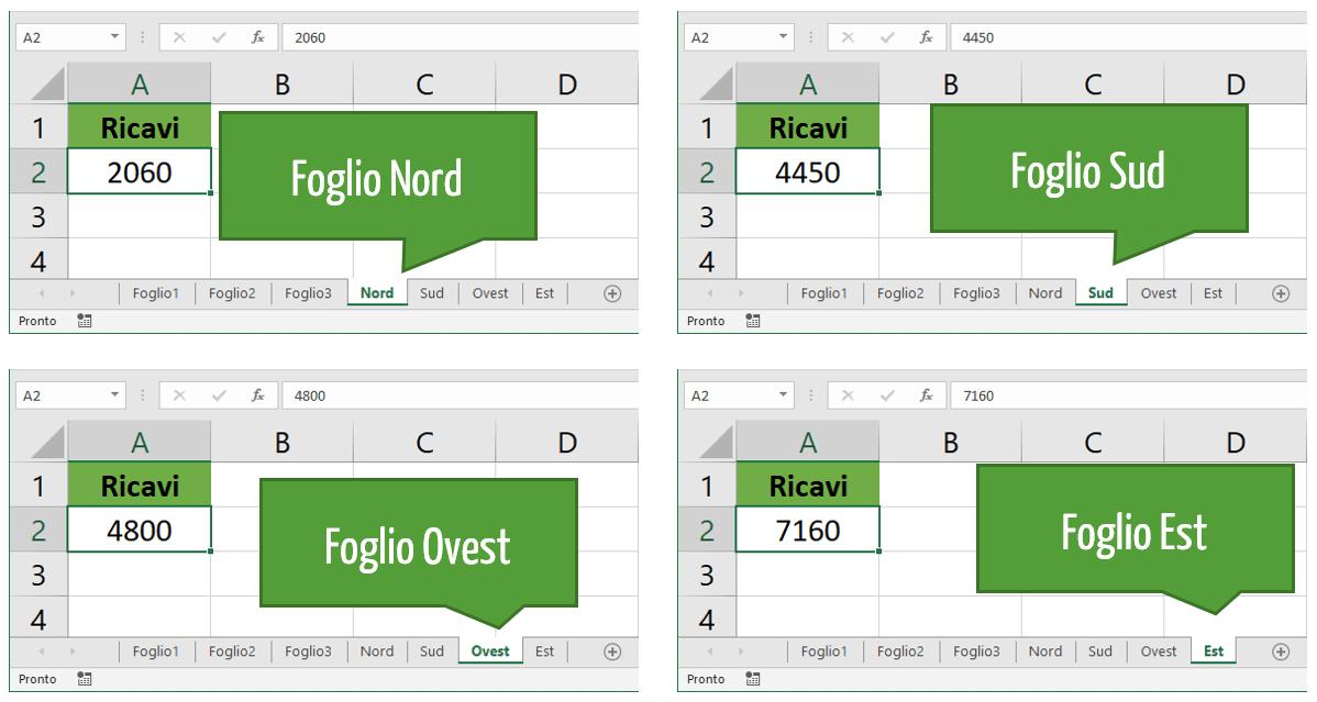 Fogli di lavoro Excel