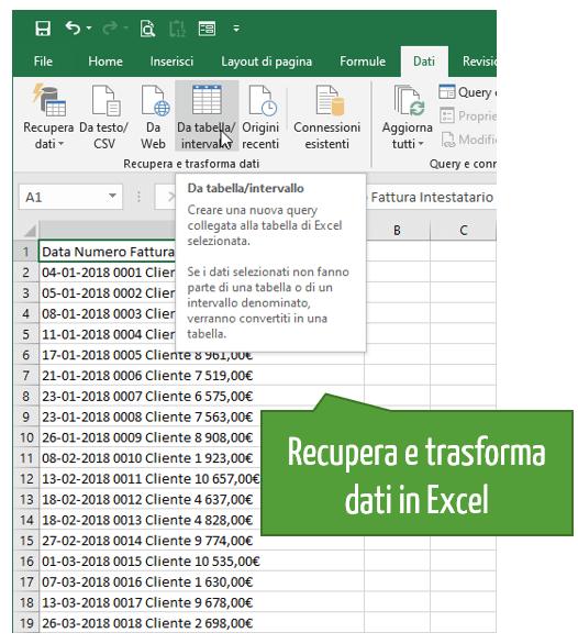 convertire da pdf a Excel