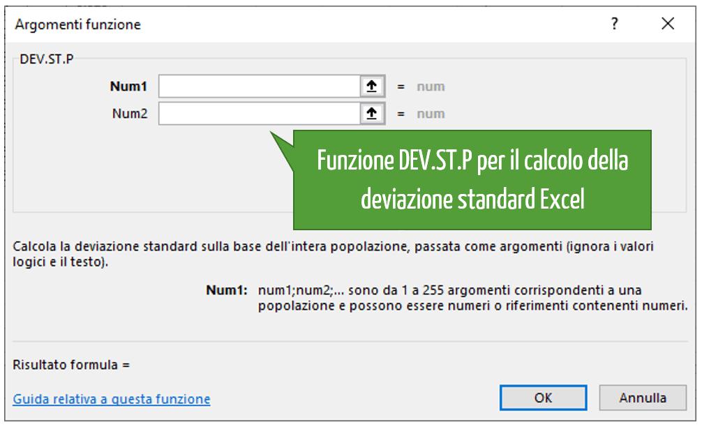 Come si calcola la deviazione standard in Excel | deviazione standard calcolo