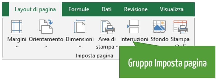 Gruppo Imposta pagina Excel