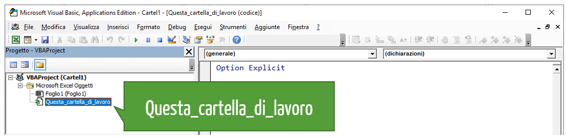 Editor Visual Basic Excel
