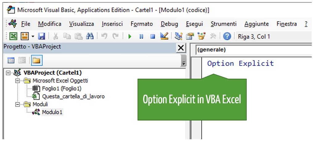 Option Explicit in VBA Excel