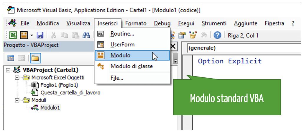 Modulo standard VBA | Estrarre URL dal testo con hyperlink: macro VBA