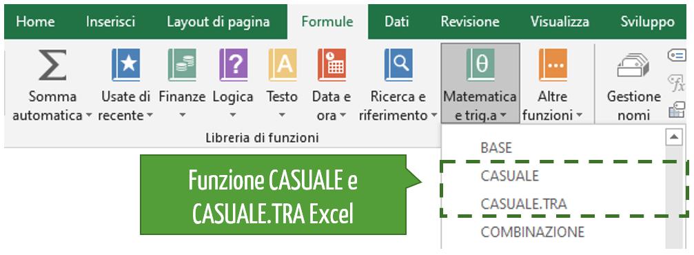 generatori numeri casuali | estrattore casuale di numeri Excel
