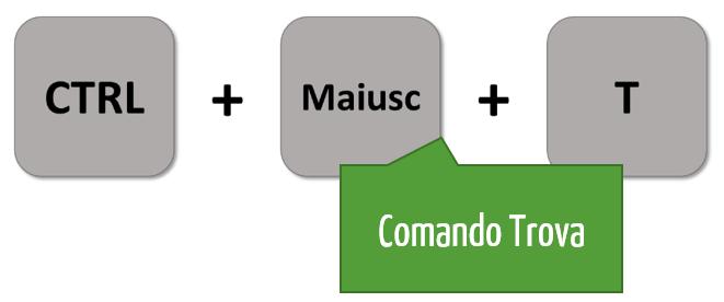 Comando Trova Excel