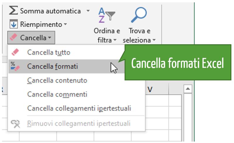 Quando Excel non prende le formule | Cancella formati Excel