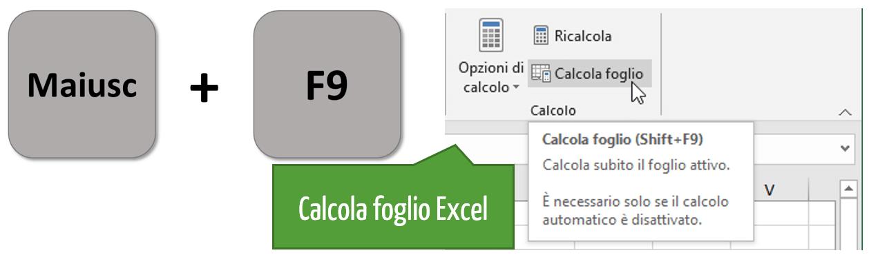 Come aggiornare formule Excel | Calcola foglio Excel