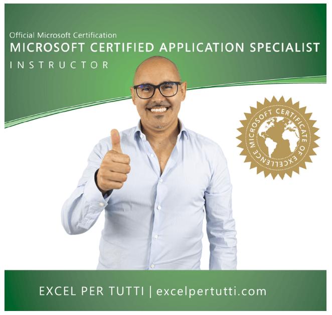 Docente Excel | Corsi Excel online