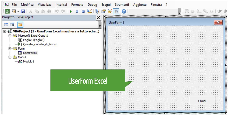 creare una maschera in Excel | form inserimento dati Excel